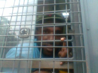 Victor Yeimo in prison today. Despite being beaten he is still smiling. The Papuan people's desire for freedom will never die.