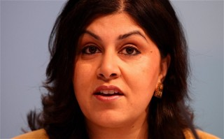 Baroness Warsi answered questions on behalf of the British Government