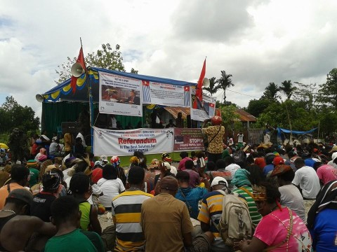 Rallies were held across West Papua in support of the launch