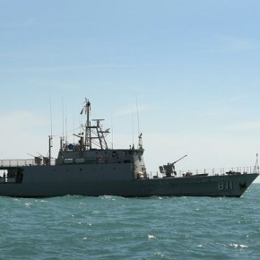 Women and children were loaded onto military vessels like this and thrown overboard at sea