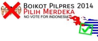 BOYCOTT-Boycott Indonesian Elections banner