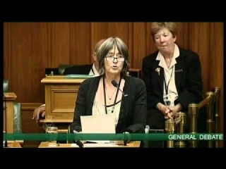 Catherine Delahunty previously speaking at parliament in support of a Free West Papua