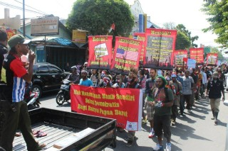West Papuan students protest against the New York Agreement, in Yogyakarta