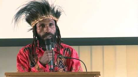 "Victor Yeimo speaking at the ""Road to Freedom"" Conference for West Papua in Oxford, United Kingdom. 2011"