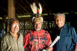 Benny Wenda meeting with John Ondawame and Andy Ayamiseba in Vanuatu