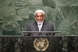 Joe Natuman, the Prime Minister of Vanuatu, speaking about West Papuan leader Dr John Ondawame, at the United Nations