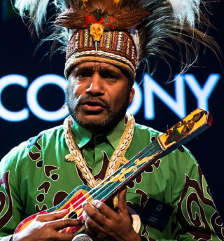 Benny Wenda speaking at the Oslo Freedom Forum in 2012