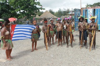 West Papuans on the day in traditional dress