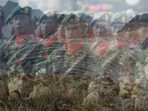 "The Indonesian military are payed over 3 million dollars a year in ""protection money"" by Freeport McMoran which operates the nearby Grasberg goldmine"