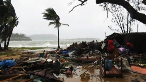 The cyclone has left thousands homeless and many people have died