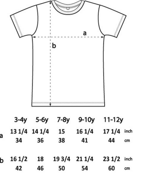 Kid's size chart