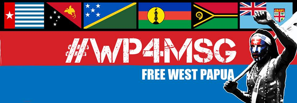 This digital banner, worn by supportive social media users is calling for West Papua to join the Melanesian Spearhead Group