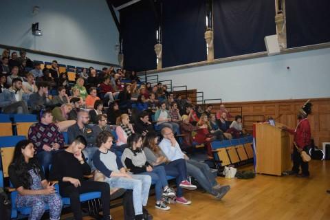 Benny Wenda speaking at Brighton University