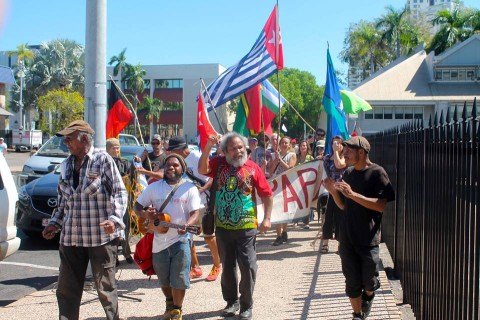 Free West Papua demonstration held in Darwin by the Freedom Forum