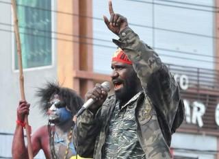 Mako Tabuni at a freedom rally