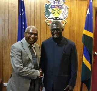 Prime Minister of the Solomon Islands meeting General Secretary of the ULMWP