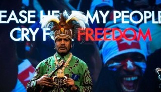 Nobel Peace Prize Nominee and West Papuan Independence Leader Benny Wenda speaking at the Oslo Freedom Forum