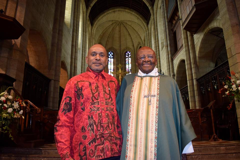 Archbishop Desmond Tutu meeting with Benny Wenda today in Cape Town
