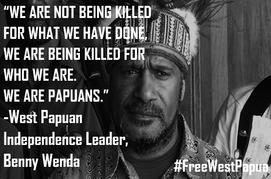 Benny Wenda talking about the West Papuan genocide