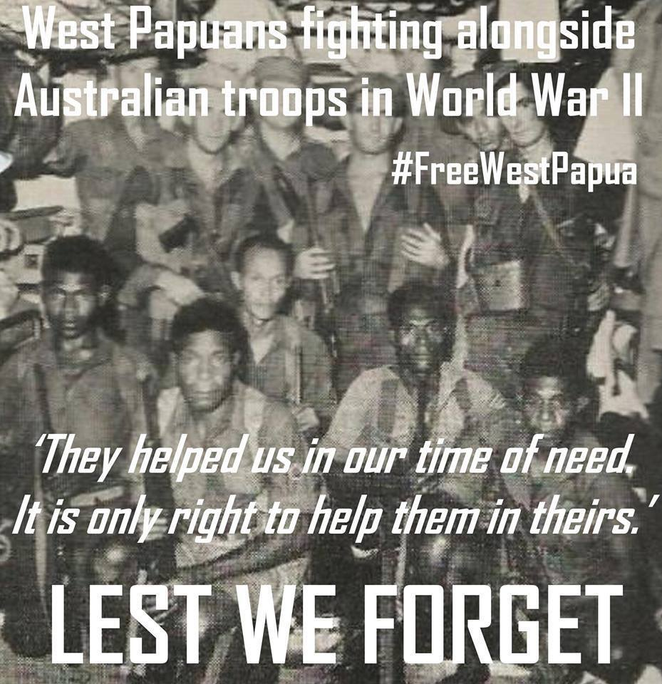 West Papuans known by James Burrowes, fighting alongside Australian troops in World War II to keep Australia Independent from Japanese occupation