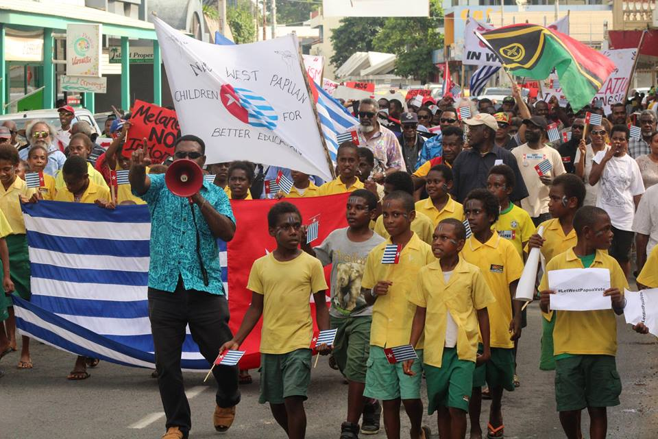 Free West Papua rally in Port Vila, Vanuatu today. Photo: Thomson Marango