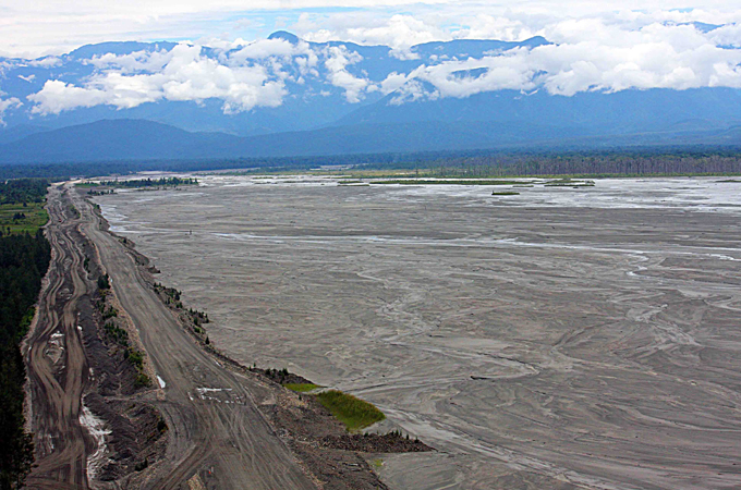 Freeport Grasberg Mine tailings in the Ajitwa river Timik