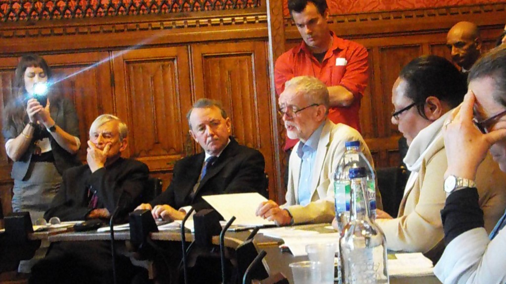Jeremy Corbyn at the IPWP Parliament meeting 3rd May 2016 call for Internationally Supervised Vote3