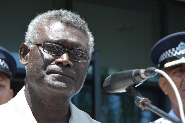 Manasseh Sogavare, the Prime Minister of the Solomon Islands.