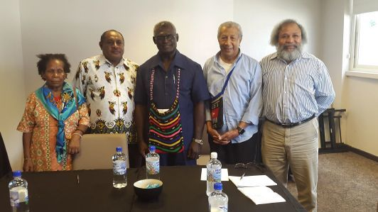 Solomon Islands Prime Minister Hon. Manasseh Sogavare meeting with members of the United Liberation Movement for West Papua (ULMWP)
