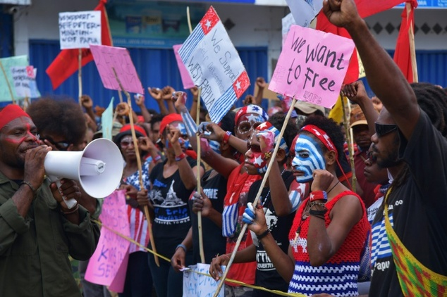 West Papuans demo for freedom ACP