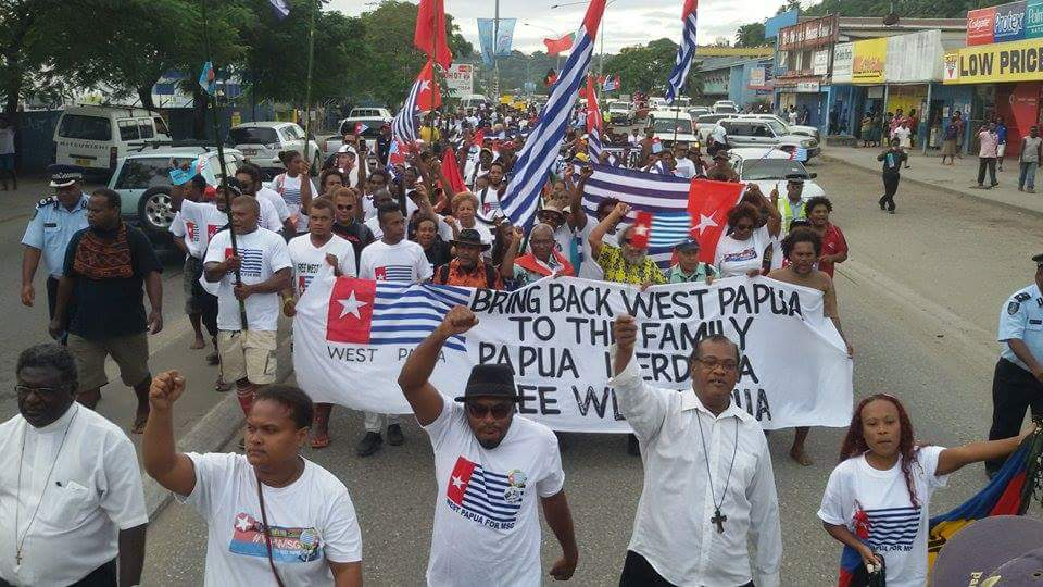 Solomon Islands West Papua MSG rally 2015