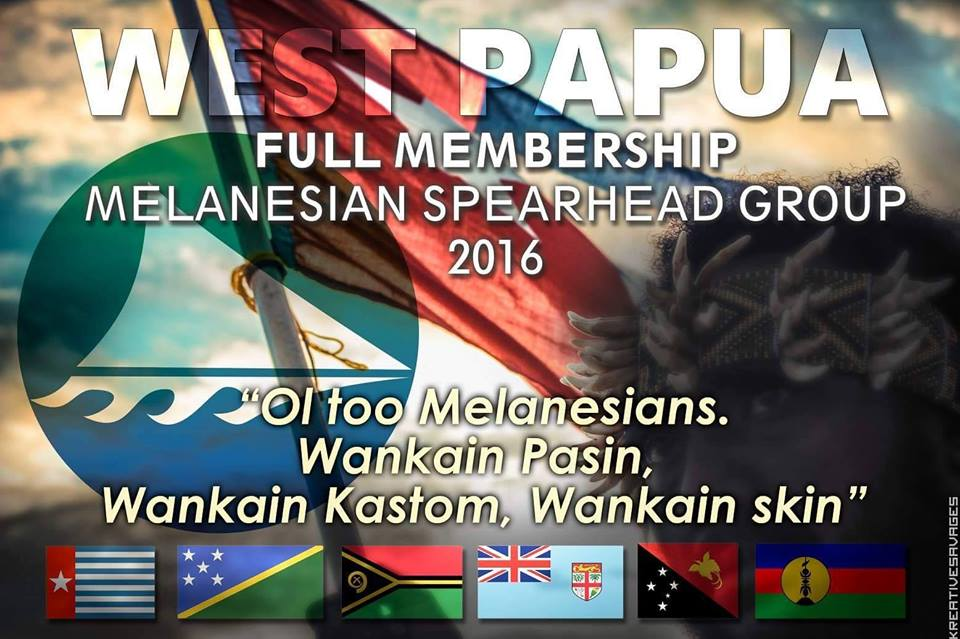 West Papua MSG banner