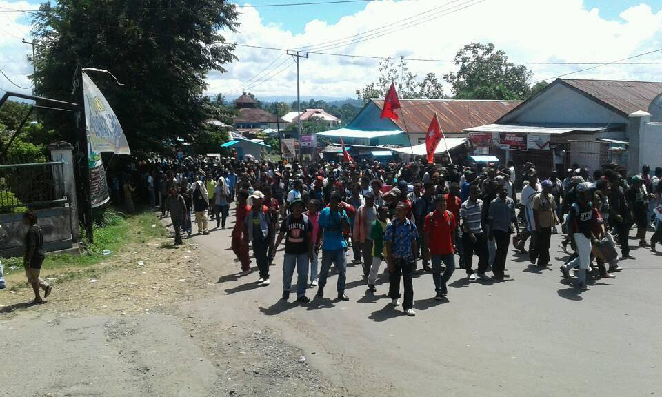 A mass rally held by the people of Manokwari, West Papua calling for self-determination