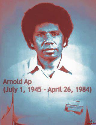Arnold Ap, West Papuan musician assassinated by Indonesian Special Forces simply for singing freedom songs.