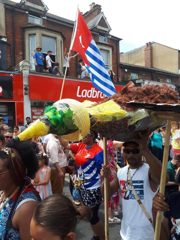 The Morning Star rises above Cowley Road Carnival 2018  Free West Papua