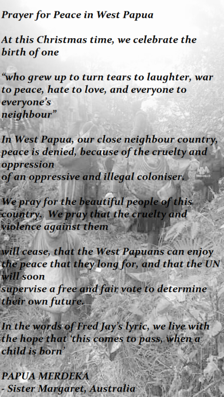 A prayer for West Papua - Free West Papua